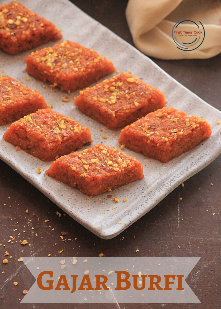 Carrot Burfi / Gajar Burfi / Carrot Fudge (Gluten free)