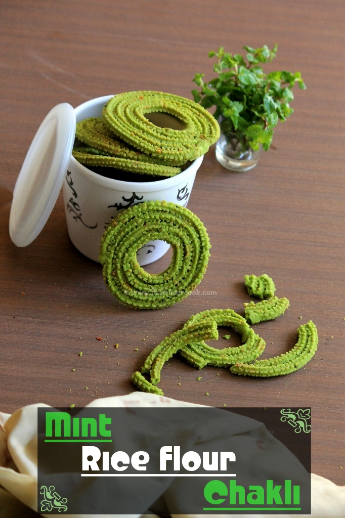 Mint Rice-Flour Chakli