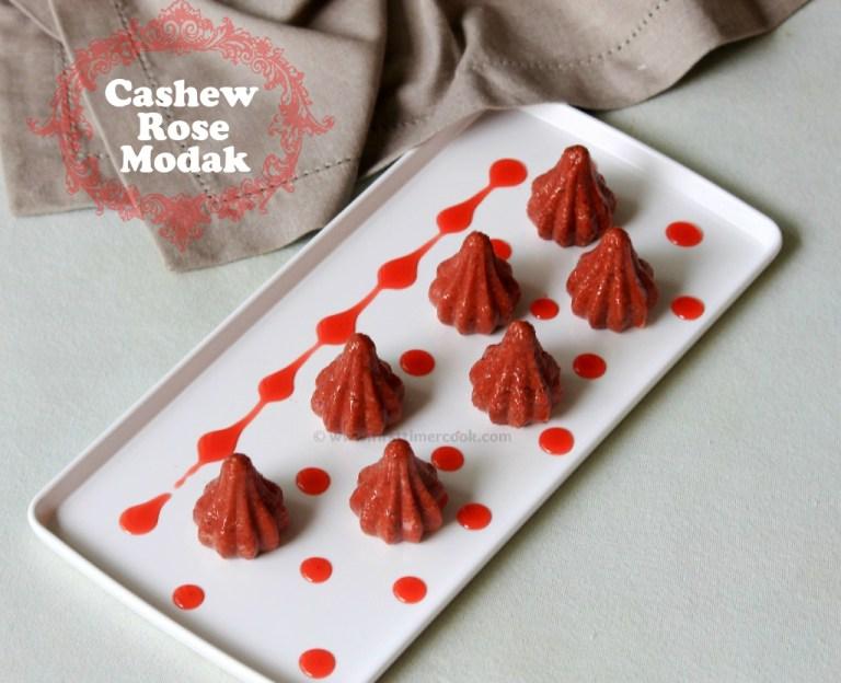 Cashewnut Rose Modak