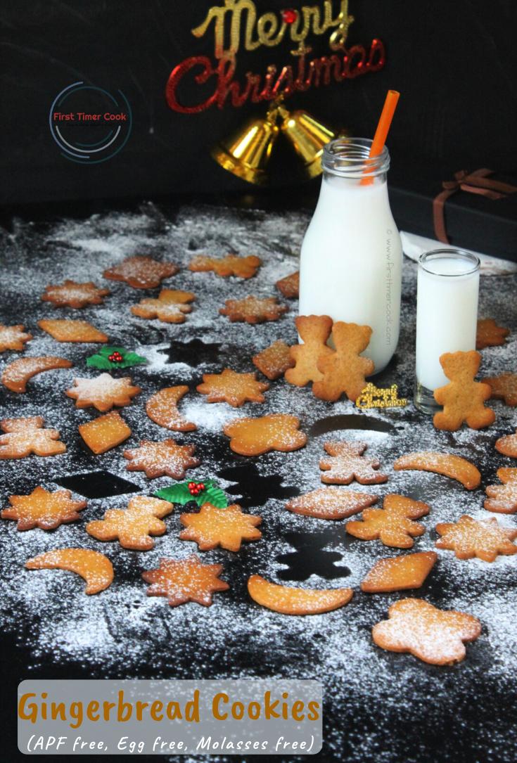 Gingerbread Cookies (Egg free, APF free, Molasses free)