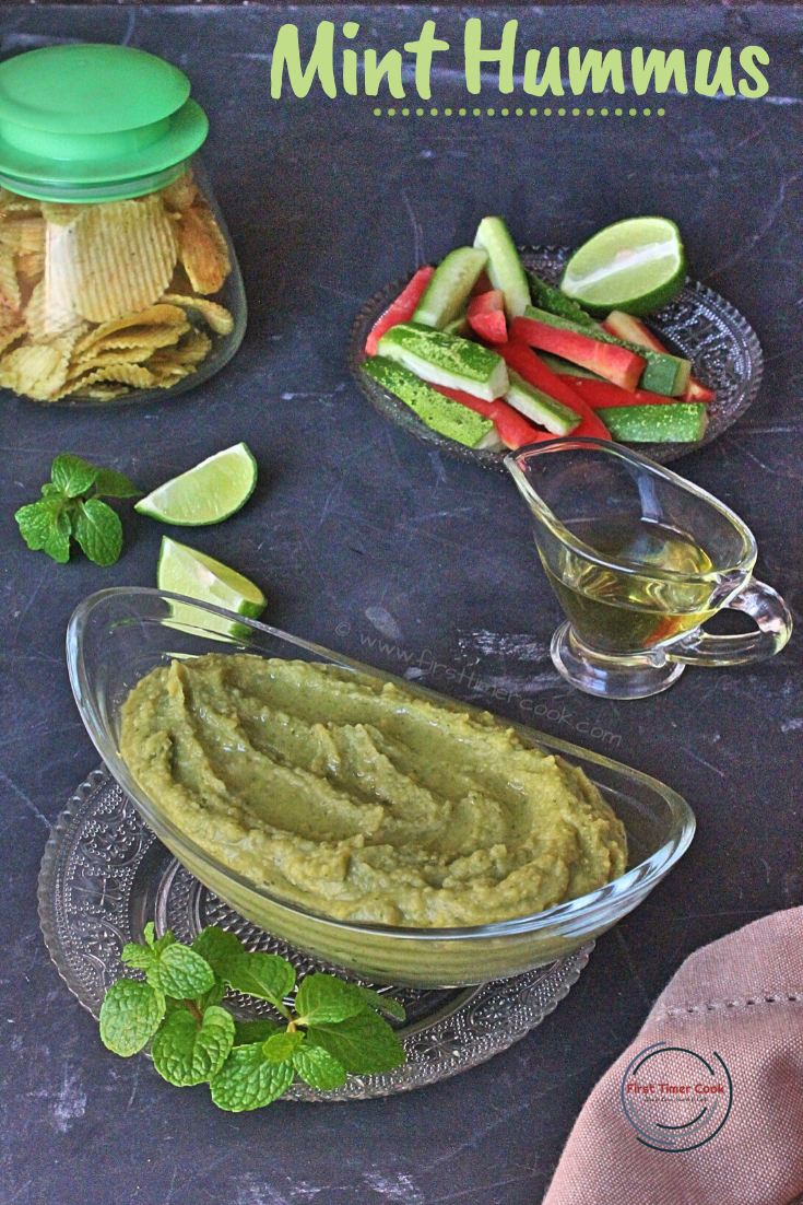 Mint Hummus (Vegan & Gluten free)