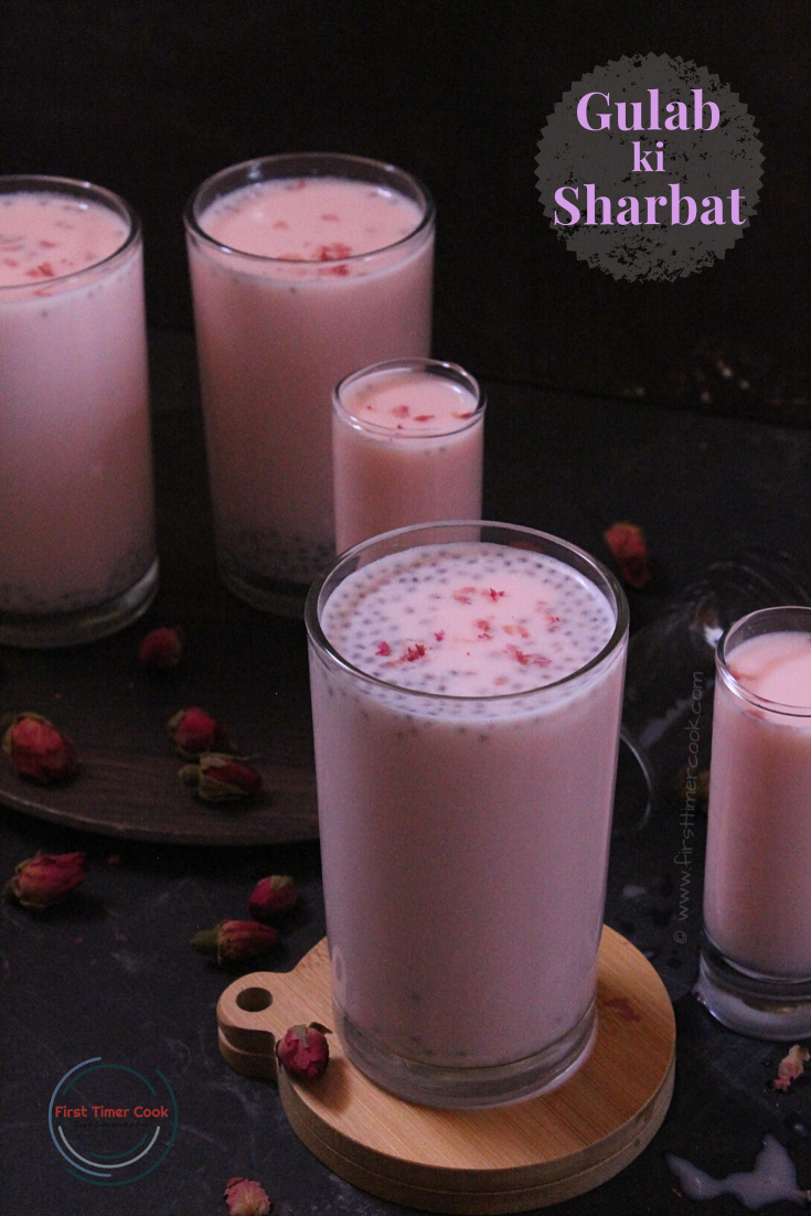 Rose Milk / Gulab ki Sharbat