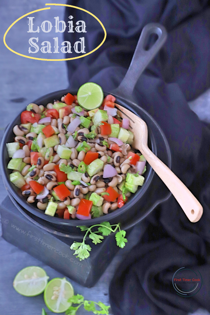 Vegan Black-Eyed Bean Salad | Lobia Salad