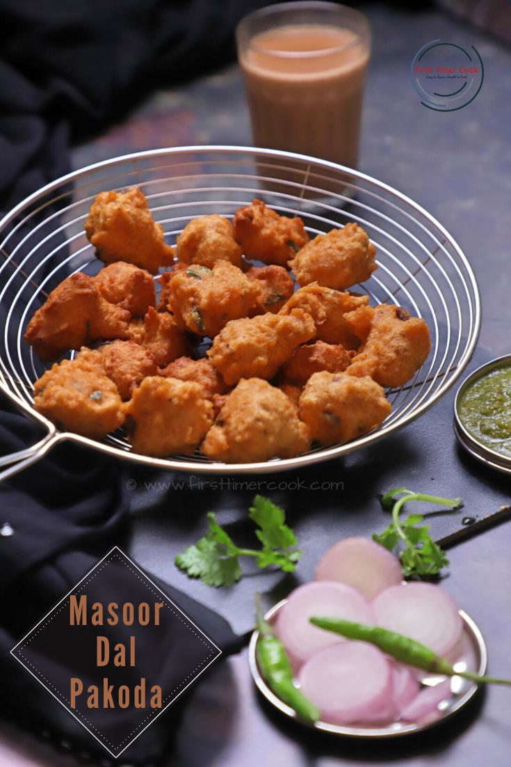 Masoor Dal Pakoda | Red Lentil Fritter (VEGAN & GLUTEN FREE)