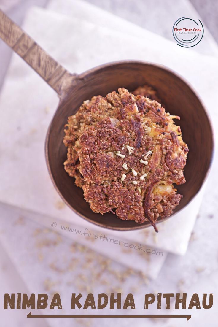 Neem Flower Patties | Nimba Kadha Pithau (Vegan & Gluten free)