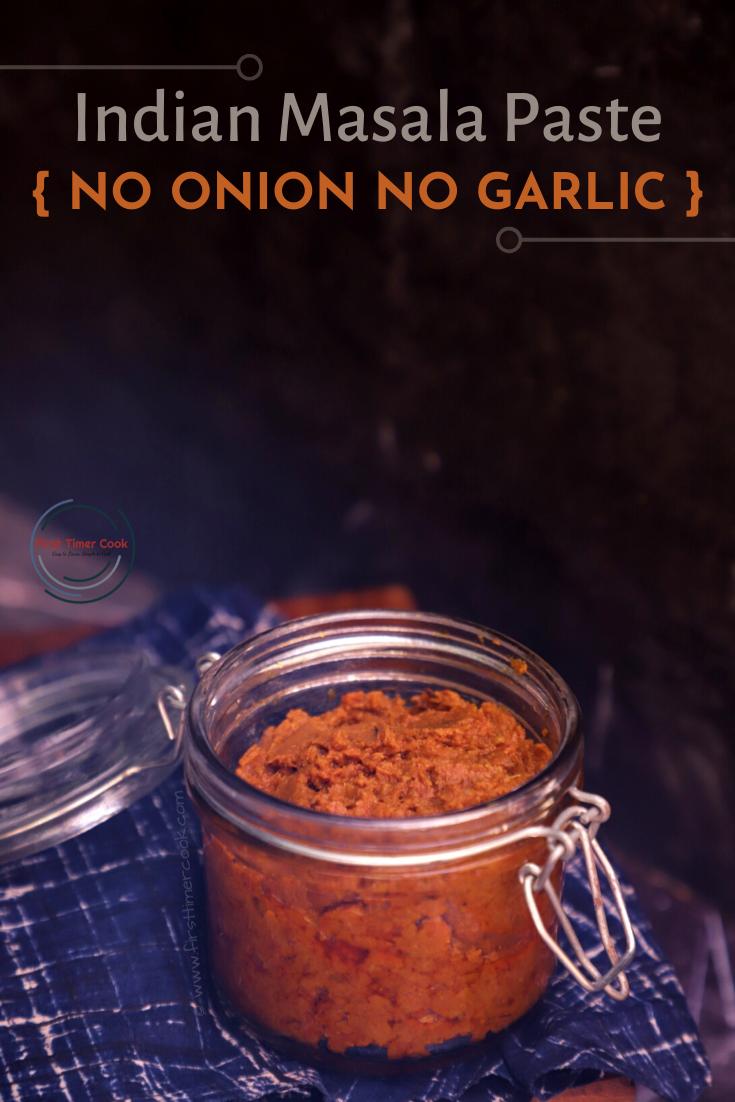 Basic Sattvic Masala Paste | No Onion & Garlic Masala Paste