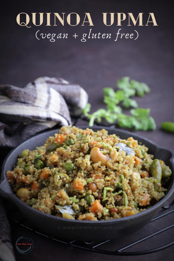 Quinoa Upma (VEGAN & Gluten free)