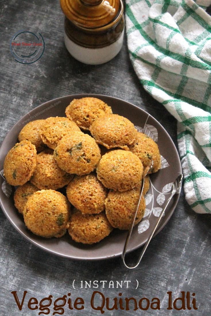 Instant Veggie Quinoa Mini Idli