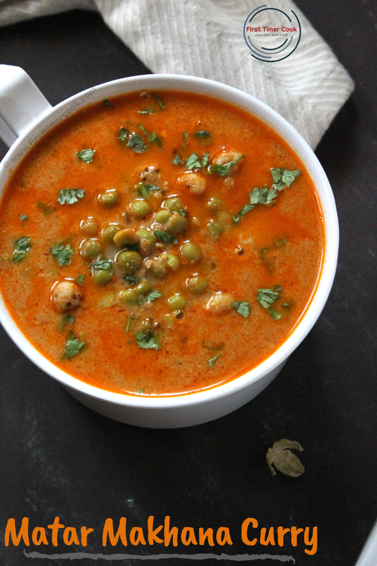Green Peas Foxnut Curry
