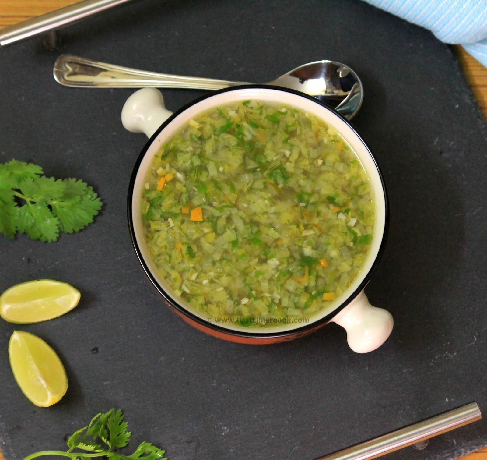 Coriander Lemon Soup (vegan)