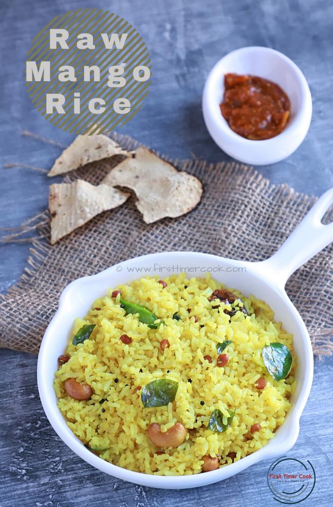 Raw Mango Rice (Vegan & Gluten free)