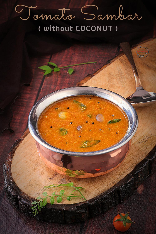 Tomato Sambar (without coconut)