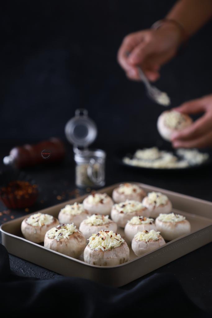Paneer Stuffed Mushroom  (baked) 2