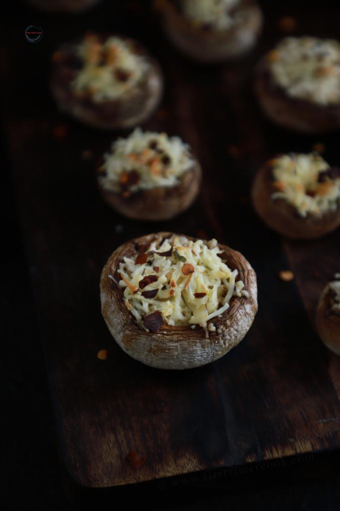 Paneer Stuffed Mushroom 4