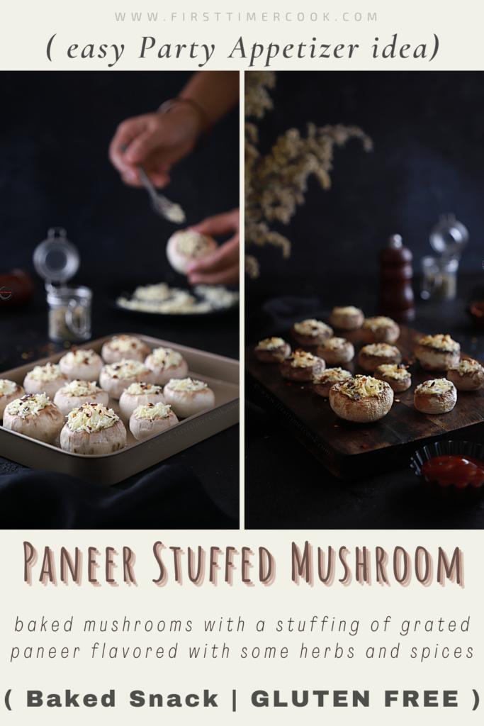 Paneer Stuffed Mushroom PIN